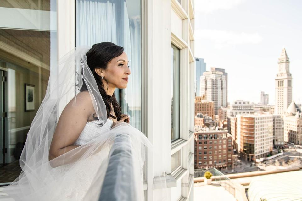 Nezha Mediouni looked out over Boston Harbor from her hotel suite.